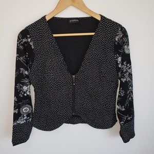 3for25$ Designer  black white top Medium